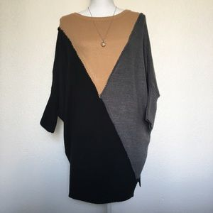 Style & Co Color Block Tunic Sweater